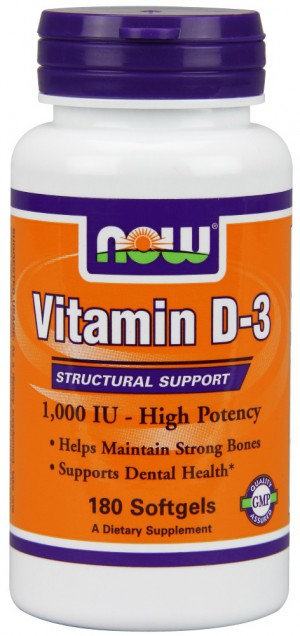 Vitamin D-3 1000 IU (bottle of 180)