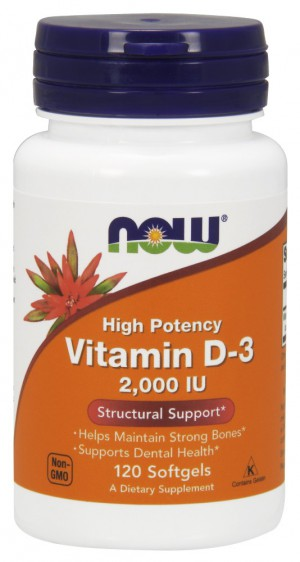 Vitamin D-3 2000 IU (bottle of 120)